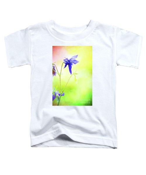 Painted Purple Columbine 2 Toddler T-Shirt