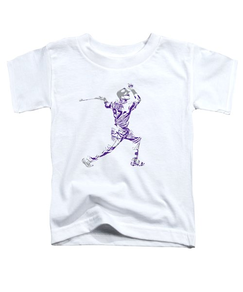 Trevor Story Colorado Rockies Pixel Art 11 Toddler T-Shirt