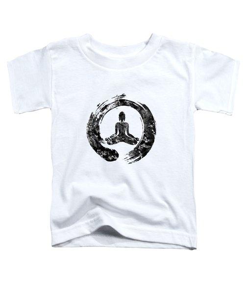 Zen Buddha-black Toddler T-Shirt
