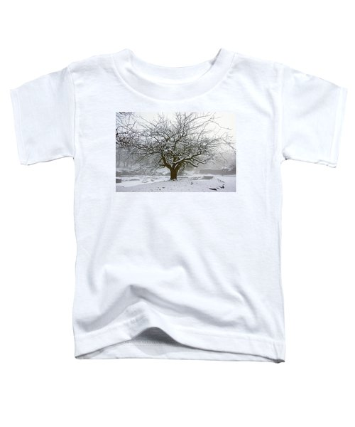 30/01/19  Rivington.  Japanese Pool. Snow Clad Tree. Toddler T-Shirt
