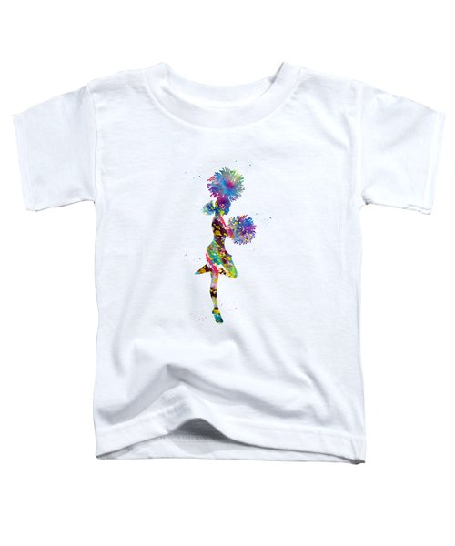 Cheerleader With Pompoms Toddler T-Shirt