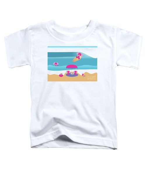 A Dog Family Surf Day Out Toddler T-Shirt