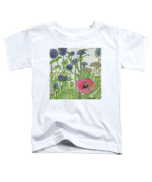 A Single Poppy Wildflowers Garden Flowers Toddler T-Shirt