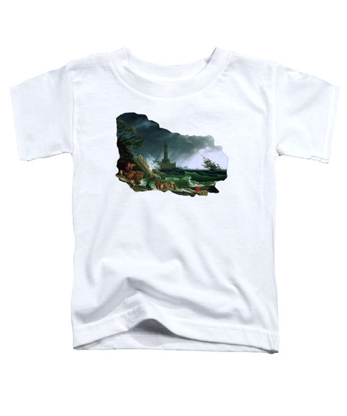 A Storm On A Mediterranean Coast By Claude Joseph Vernet Toddler T-Shirt
