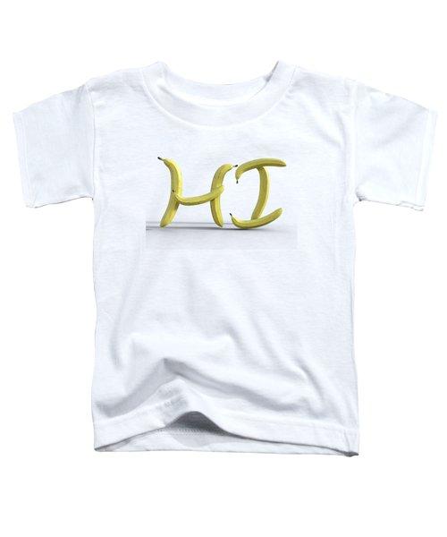 A Yellow Hello Toddler T-Shirt
