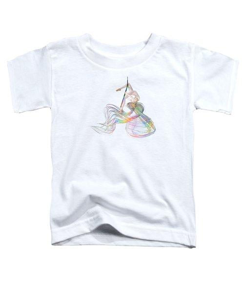 Aerial Hoop Dancing Ribbons For Her Hair Png Toddler T-Shirt