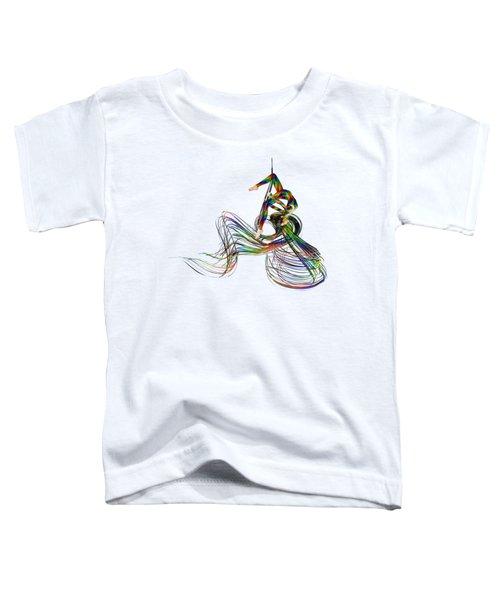 Aerial Hoop Dancing Ribbons Of Hair Png Toddler T-Shirt