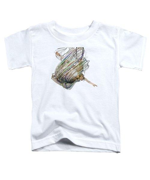 Aerial Hoop Dancing Whirlwind Of Hair Png Toddler T-Shirt
