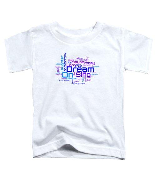 Aerosmith - Dream On Lyrical Cloud Toddler T-Shirt