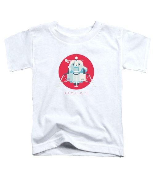 Apollo Lunar Module Lander Minimal - Text Crimson Toddler T-Shirt