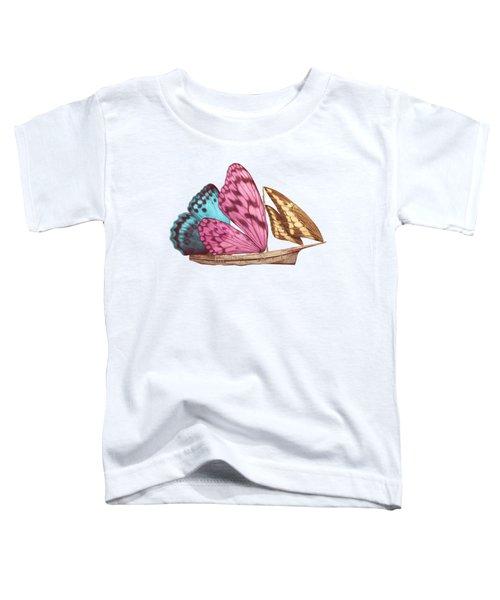 Butterfly Ship Toddler T-Shirt