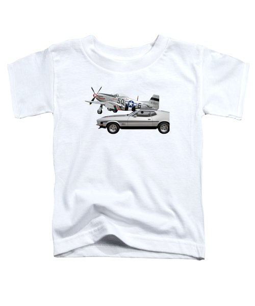 Mach 1 Mustang With P51  Toddler T-Shirt