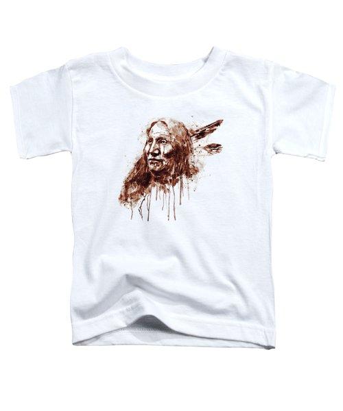 Native American Portrait Sepia Tones Toddler T-Shirt