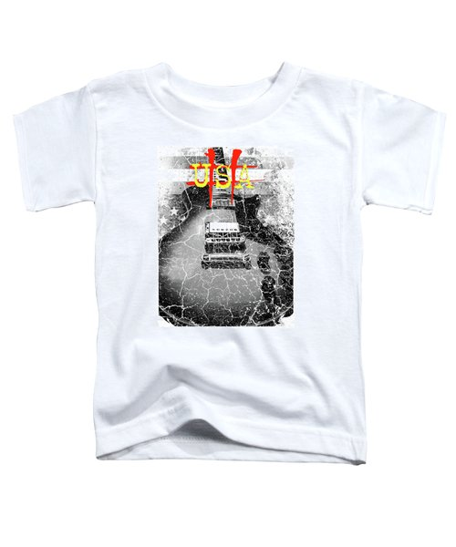 Usa Flag Guitar Relic Toddler T-Shirt