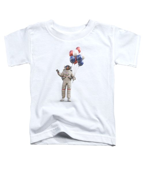 Astronaut With Happy Balloons  Toddler T-Shirt