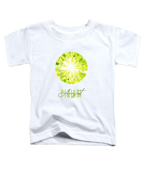 August Birthstone - Peridot Toddler T-Shirt