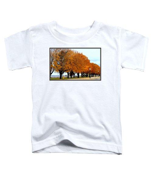 Autumn Leaves In Menominee Michigan Toddler T-Shirt