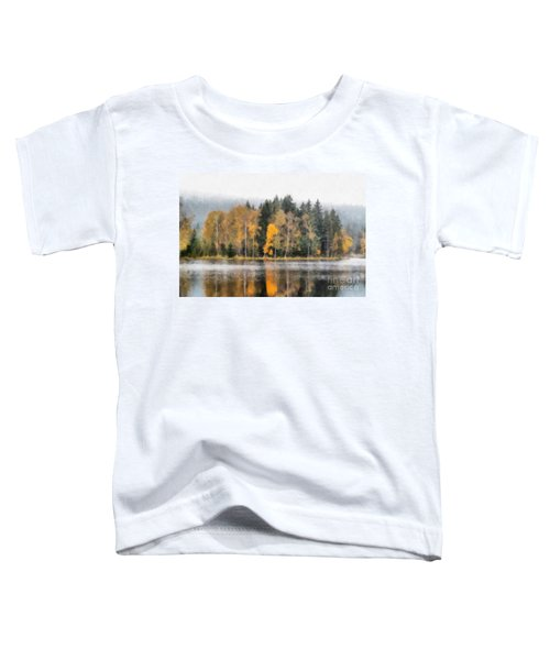 Autumn Trees On The Bank Of Lake Toddler T-Shirt