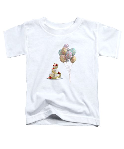 Balloons And Cake Toddler T-Shirt