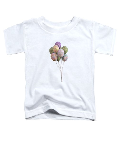 Balloons Classic Floral Toddler T-Shirt