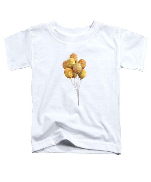 Balloons Golden Toddler T-Shirt