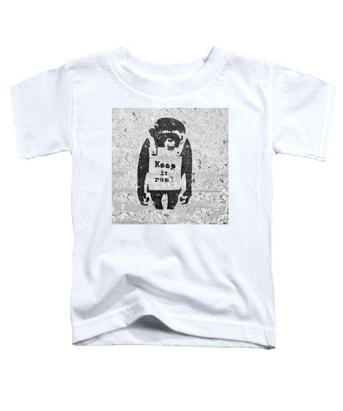 Banksy Chimp Keep It Real Toddler T-Shirt