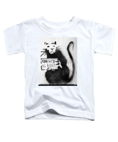 Banksy Rat The End Is Here Toddler T-Shirt