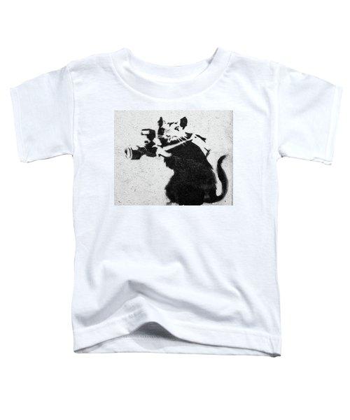 Banksy Rat With Camera Toddler T-Shirt
