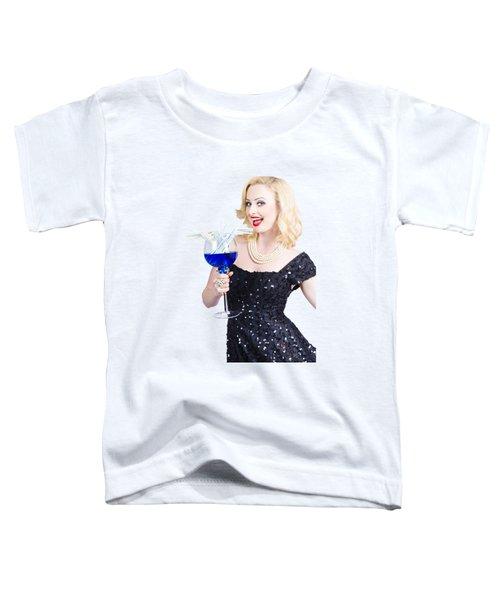 Beautiful Blonde Enjoying A Classy Cocktail Event Toddler T-Shirt