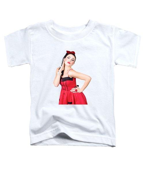 Beautiful Young Pin-up Woman In Retro Fashion Toddler T-Shirt
