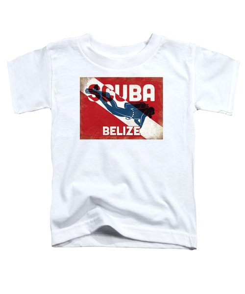 Belize Scuba Diver - Blue Retro Toddler T-Shirt
