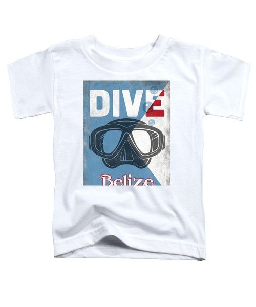 Belize Vintage Scuba Diving Mask Toddler T-Shirt