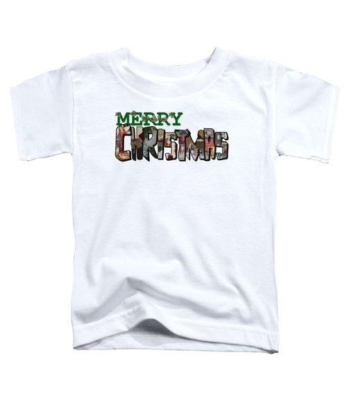 Big Letter Merry Christmas Toddler T-Shirt