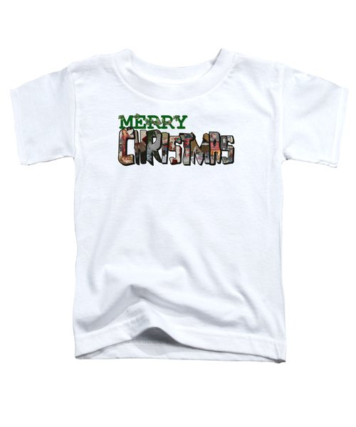 Big Letter Merry Christmas Toddler T-Shirt