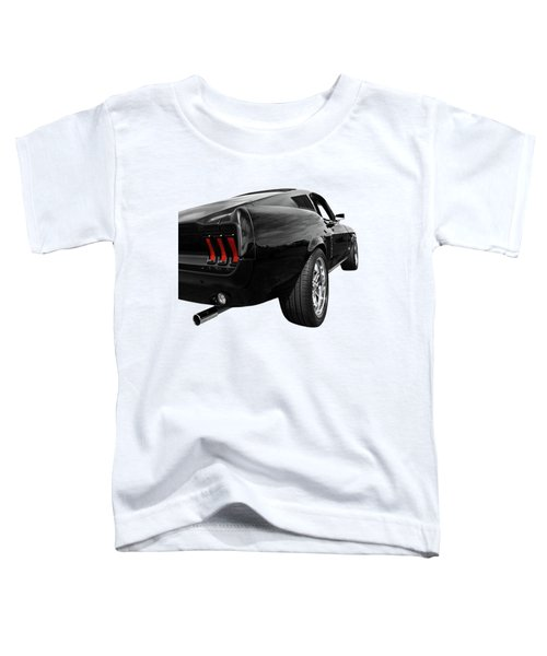 Black 1967 Mustang Rear Toddler T-Shirt