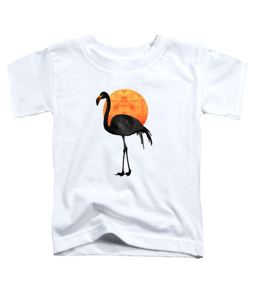 Black Flamingo 4 - Tropical Wall Decor - Flamingo Posters - Exotic Birds - Black, Modern, Minimal  Toddler T-Shirt