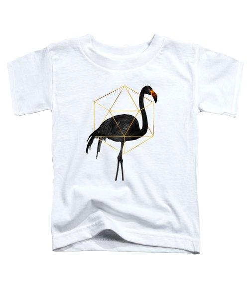 Black Flamingo 5 - Tropical Wall Decor - Flamingo Posters - Exotic, Black, Gold, Modern, Minimal  Toddler T-Shirt