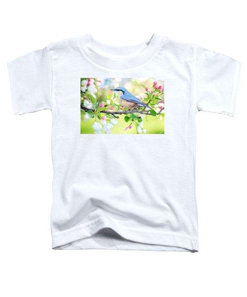 Blue Orange Bird Toddler T-Shirt