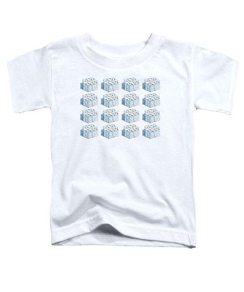 Blue Present Pattern Toddler T-Shirt
