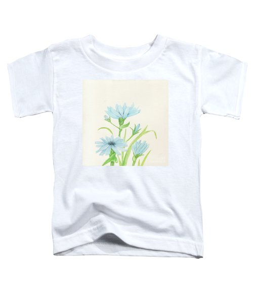 Blue Wildflowers Watercolor Toddler T-Shirt
