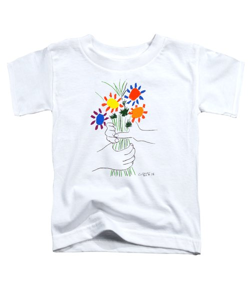 Bouquet Of Peace 1958 Flowers Bouquet With Hands Toddler T-Shirt