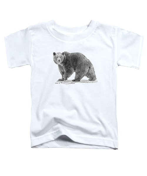 Brown Black And White Toddler T-Shirt