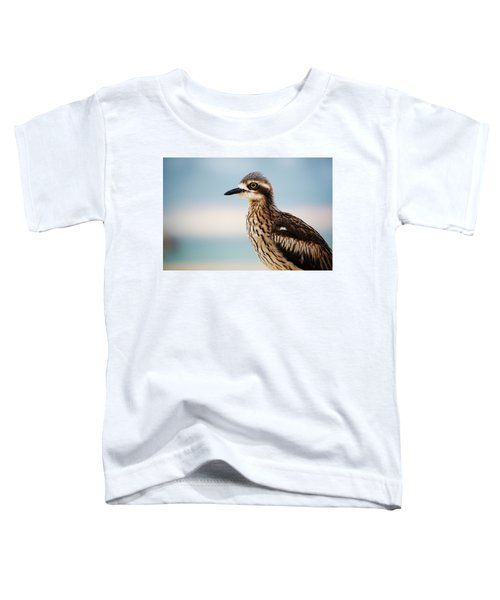 Bush Stone-curlew Resting On The Beach. Toddler T-Shirt