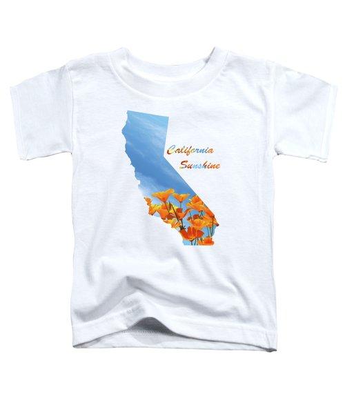 California Sunshine State Map Toddler T-Shirt