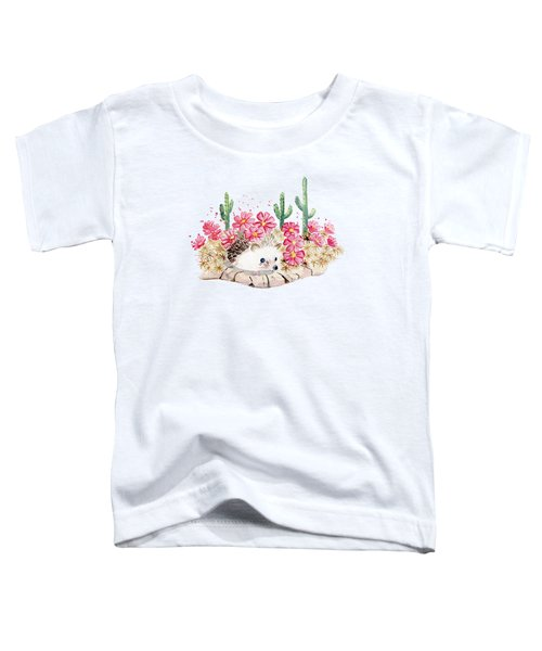 Camouflage - Hedgehog And Cactus Toddler T-Shirt