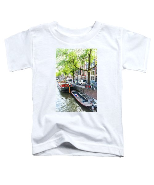 Canal Boats In Amsterdam Toddler T-Shirt