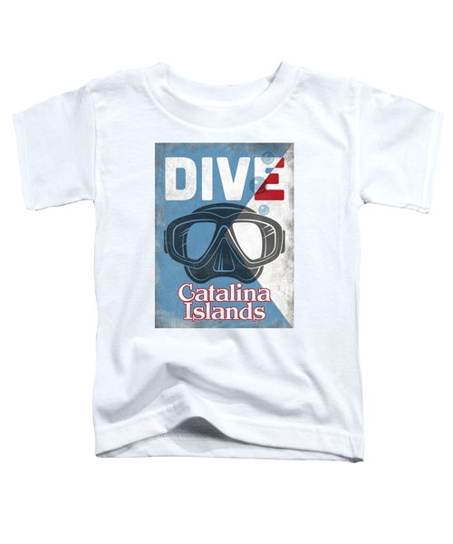 Catalina Islands Vintage Scuba Diving Mask Toddler T-Shirt