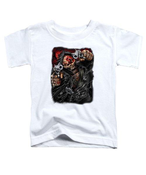 Caveira 2 Armas Rock Toddler T-Shirt