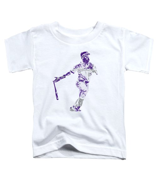 Charlie Blackmon Colorado Rockies Pixel Art 1 Toddler T-Shirt