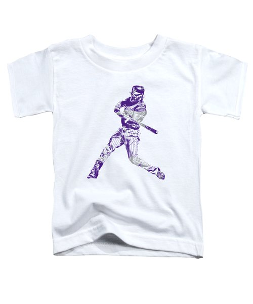 Charlie Blackmon Colorado Rockies Pixel Art 2 Toddler T-Shirt